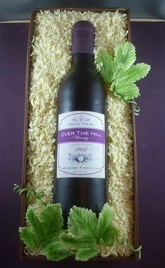 Wine bottle cake   Saskia Nollen   Flickr