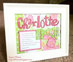 Playing with Paper: Scrapbooks, Cards | CTMH Independent Consultant: New Style {What's in a Frame} - Sophia Paper for Baby Girl!