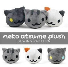 Patron et tuto en anglais avec beaucoup de photos Neko Atsume Plush sewing pattern by Sew Desu Ne?