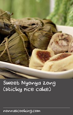"""Sweet Nyonya zong (sticky rice cake) 