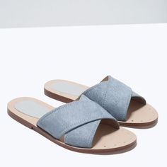 Image 5 of CROSSOVER LEATHER SANDALS from Zara