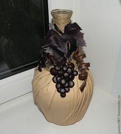 ru / Photo # 32 - New Year 2 - Kisenok-Lisenok Glass Bottle Crafts, Wine Bottle Art, Diy Bottle, Hobbies And Crafts, Diy And Crafts, Decoupage Glass, Jar Art, Altered Bottles, Recycled Bottles