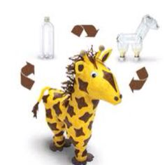 water bottle jiraffe.. Love this idea
