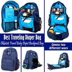 The Okkatots Travel Baby Depot Backpack Bag is coolest baby bag ever for traveling with a baby. I don't think you can find any better to carry all your baby might need for traveling more than a day.