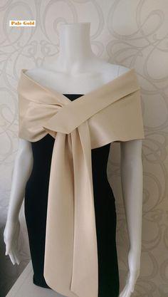 Duchess Satin Pale Gold Shrug/ Shawl/Wrap/Bolero.Hand made in