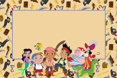 Jake and the Never Land Pirates: Free Printable Invitations.