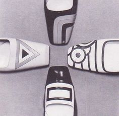 Mod op-art shoes photographed by F C Gundlach