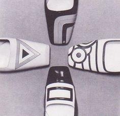 Mod op-art shoes photographed by F C Gundlach