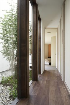 Image 7 of 28 from gallery of / TSC Architects. Photograph by Masato Kawano House Design, Interior Architecture, House Inspo, House Flooring, House Exterior, Facade Design, Interior Design Art, Ranch Style Homes, Patio Interior