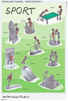 śmieszne figurki sportowców Handmade Poland