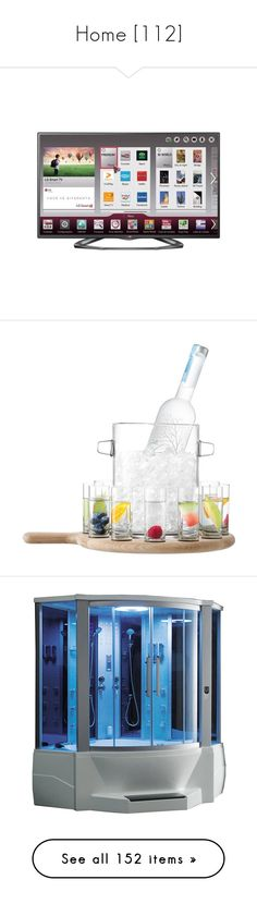 """Home [112]"" by gdavilla ❤ liked on Polyvore featuring home, kitchen & dining, vodka glasses, vodka glass, vodka set, colored buckets, blue, bathroom, furniture and outdoors"