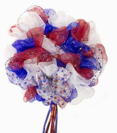 4th Of July Tulle Wreath