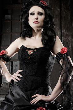 schwarzes brautkleid , Brautmode in schwarz