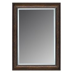 Shop Allen Roth 36 In X 46 In Copper Rectangle Framed Wall Mirror