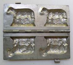 Vintage / Antique Anton Reiche Pair Sheep Hinged Chocolate Mold