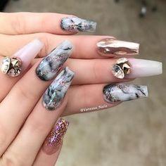 "Vanessa Gisselle (@vanessa_nailz) on Instagram: ""Products Used: @vanessa_nailz VN Silk white✨ VN Royal Amber ✨ VN Cover Beige✨ (under chrome) VN…"""