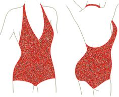 FREE Vintage Retro Style Square Leg Maillot Swimsuit (Bathing Suit) Sewing Pattern and Tutorial