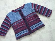 Ravelry: Baby Garden Cardi pattern by Hélène Rush Knitting Stitches, Baby Knitting, Seed Stitch, Baby Cardigan, Baby Patterns, Ravelry, Cute Babies, Stripes, Garden
