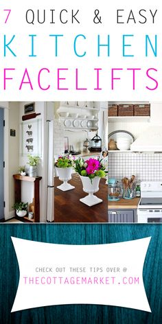7 Quick and Easy Kitchen Facelifts - The Cottage Market Kitchen Facelift, Kitchen Redo, Kitchen Remodel, Kitchen Ideas, Builder Grade Kitchen, Home Upgrades, Do It Yourself Projects, Updated Kitchen, Beautiful Kitchens