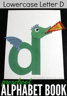 D is for dragon! Teach your preschooler the alphabet with the rest of these awesome alphabet book crafts!