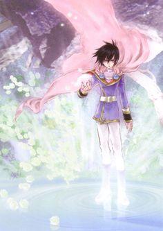 Leon Magnus from Tales of Destiny illustration by Mutsumi Inomata