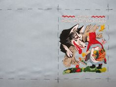 Little Red Riding Hood embroidery for book-clutch by Olympia Le-Tan