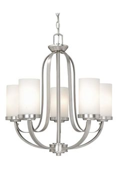Minka lavery parsons studio 5 light brushed nickel chandelier vaxcel lighting ox chu005 oxford 5 light single tier chandelier with frosted gla brushed nickel aloadofball Image collections