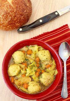 Chicken and Matzo Ball Soup Recipe | The Rebel Chick {Sponsored post - SwissHerbs}
