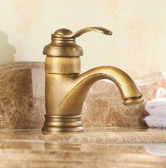 Centerset Single Handle Antique Brass Bathroom Sink Faucet TP0480 ...