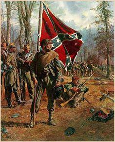 confederate standard bearer