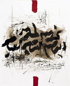 Post-Modern Persian Calligraphy by Golnaz Fathi (Iran, b.1972)