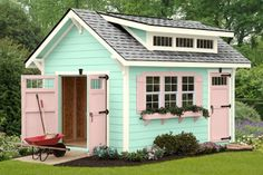 Every thought about how to house those extra items and de-clutter the garden? Building a shed is a popular solution for creating storage space outside the house. Whether you are thinking about having a go and building a shed yourself Craft Shed, Diy Shed, Cabana, Prefab Sheds, Shed Cabin, Sheds For Sale, Shed Kits, Backyard Sheds, Garden Sheds