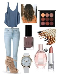 """""""The perfect shoes"""" by talaylay123 ❤ liked on Polyvore featuring RVCA, Frame Denim, Apt. 9, MAC Cosmetics, Viktor & Rolf, Bobbi Brown Cosmetics and NLY Accessories"""