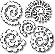 Impression Obsession - Die - Spiral Flowers,$7.99