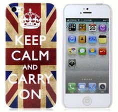 Capa Keep Calm And Carry On para iPhone 5