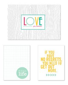 No regrets Free journaling card set for project life.