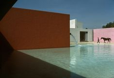 "René Burri, ""Horse Pool and House by Luis Barragan, San Cristobal, Mexico,"" 1976"