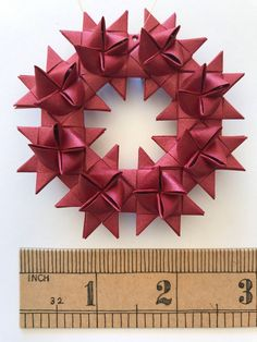 Wreath made from eight Moravian stars. Perfect for the holidays! Christmas Crafts To Make, Crafts To Do, Holiday Crafts, Kids Crafts, Holiday Ideas, Christmas Decor, Christmas Cards, Paper Ornaments, Xmas Ornaments
