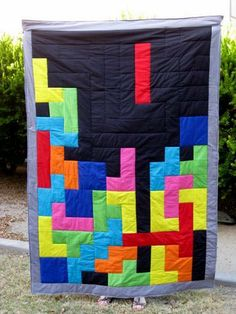 Reserved custom twin size periodic table quilt periodic table tetris quilt i bet you could crochet this with granny squares urtaz Image collections