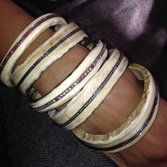 Jennifer Lyon Jewelry - Antler bangles with diamonds or sapphires!  Your pick of white diamonds, black diamonds, rubies, blue sapphires or multi-colored sapphires... yummy!