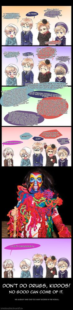 Hetalia - The Nordics On Drugs by JustMeBeingADork.deviantart.com on @deviantART