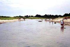 The creek Ocean Beach Park, New London