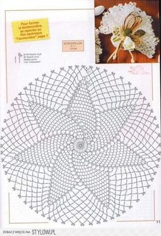 Kira scheme crochet: Scheme crochet no. Free Crochet Doily Patterns, Crochet Doily Diagram, Crochet Circles, Crochet Motifs, Crochet Round, Crochet Chart, Crochet Squares, Diy Crochet, Filet Crochet