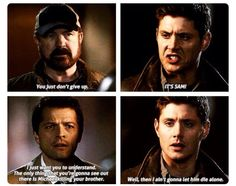 Dean loves Sam so much<< Dean was expecting to die. So what was going to happen if Sam died, but Dean didn't??? What would Dean have done?