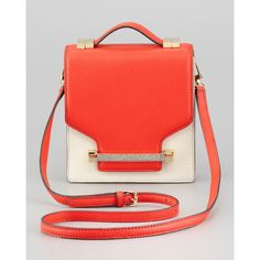 Vince Camuto Sonata Julia Crossbody Bag, Fiery Coral found on Polyvore