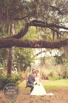 Love a romantic swing shot Easy Weddings, Ranch Weddings, Outdoor Weddings, Lodge Wedding, Woodland Wedding, Rustic Wedding, Our Wedding, Wedding Stuff, Wedding Photos