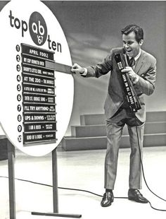 Dick Clark's American Bandstand Top 10 Songs Every Saturday I watched this show. I saw a lot of entertainers perform on this show. I got to see popular dances being done before my eyes all in black and white, at the beginning anyway. My Childhood Memories, Great Memories, Midcentury Modern, American Bandstand, Baby Boomer, Vintage Tv, Vintage Images, Old Tv Shows, I Remember When