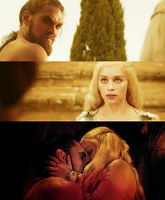 Khal Drogo and Khaleesi <3 My favorite characters in all of GoT.. I'm re-watching it from the beginning and falling in love all over again, except even more than the first time.