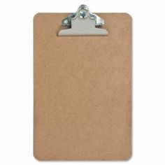 "Sparco Hardboard Clipboard, Nickel-Plated Clip, 6""x9"", Brown (SPR00893)"