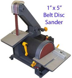 """1"""" X 5"""" Belt Disc Sander Wood Metal Hobbyist 3600 RPM - Other features include: -Disc Speed: 3600 RPM~~ -Disc Size: 5""""~~ -Table Tilting: 0-45º~~ -Over All Dimension: 14-1/2"""" x 11"""" x 14-1/2"""" Product Features  Hobbyist Belt Disc Sander Table Top Mount"""